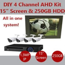 CCTV DIY kit 4 AHD camera