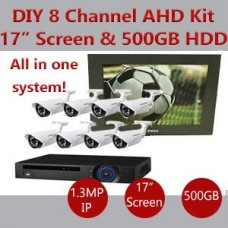 CCTV DIY kit 8 AHD camera
